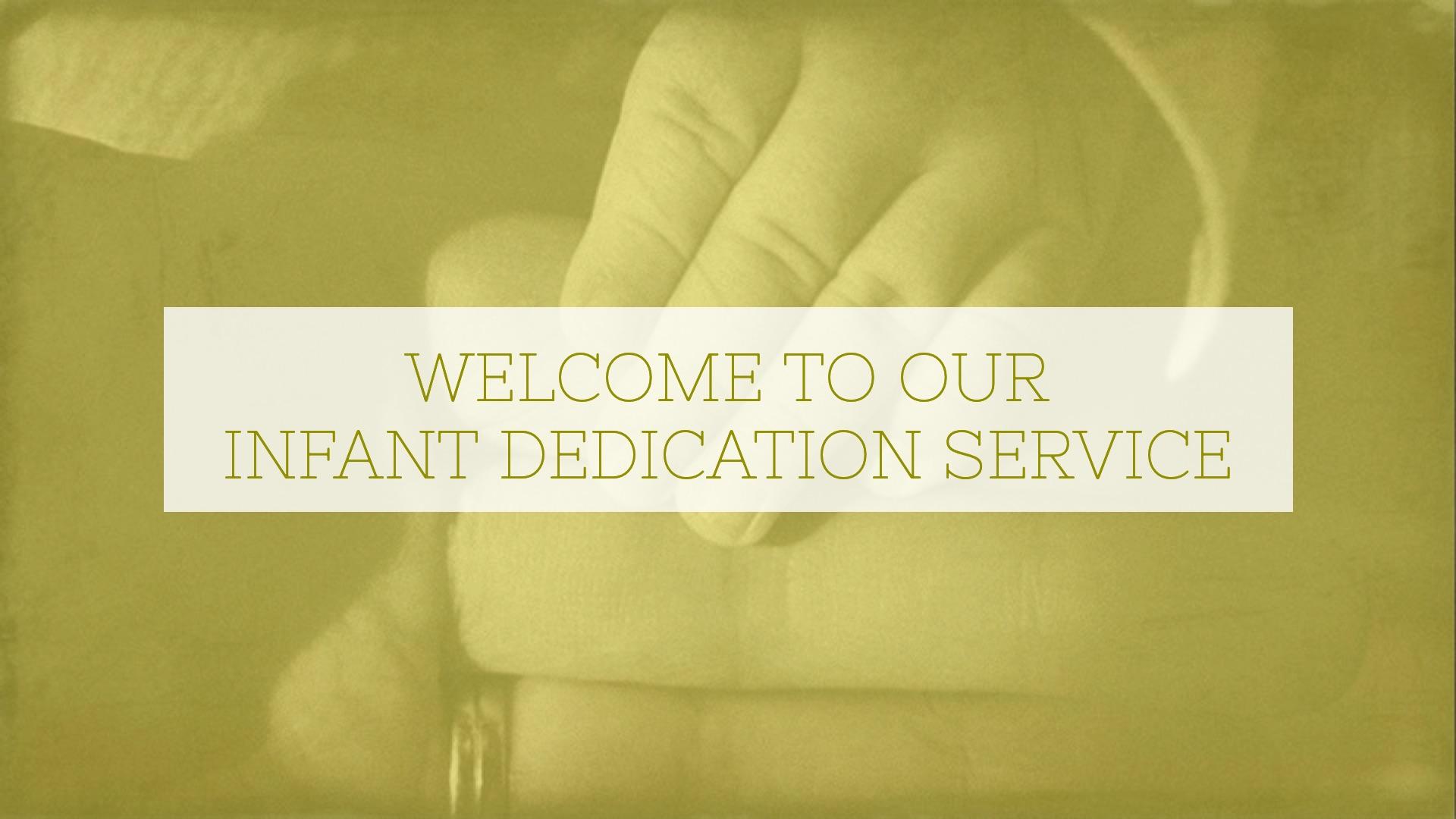 Infant Dedication Service