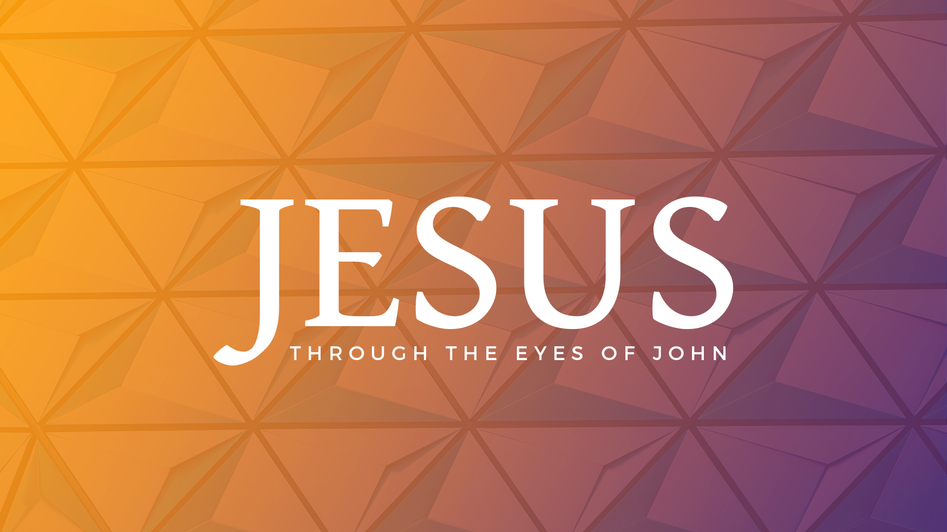 Jesus-Through the Eyes of John VII