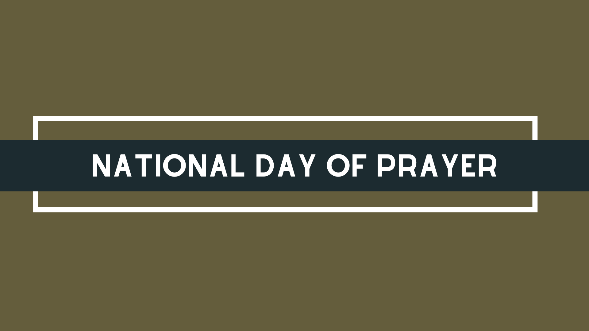 National Day of Prayer 3-15-20