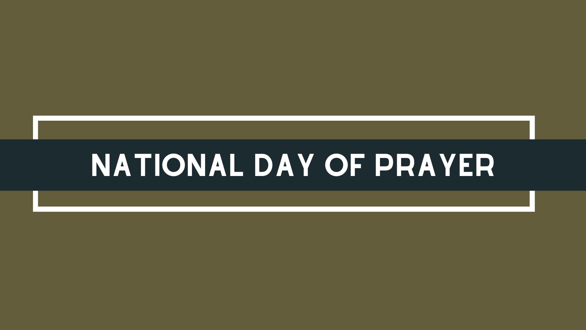 National Day of Prayer 3/15/2020