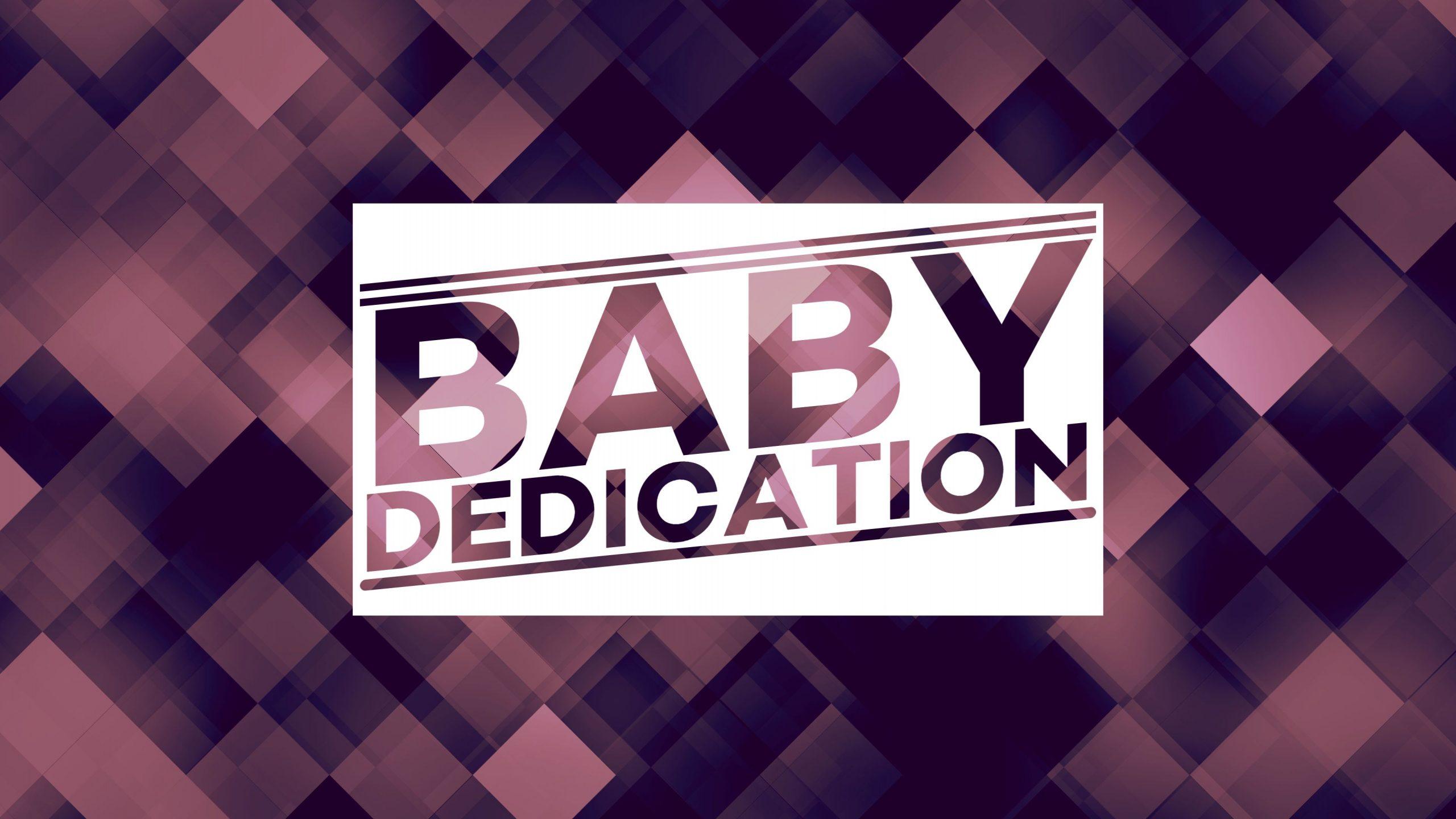 Baby Dedication 2020