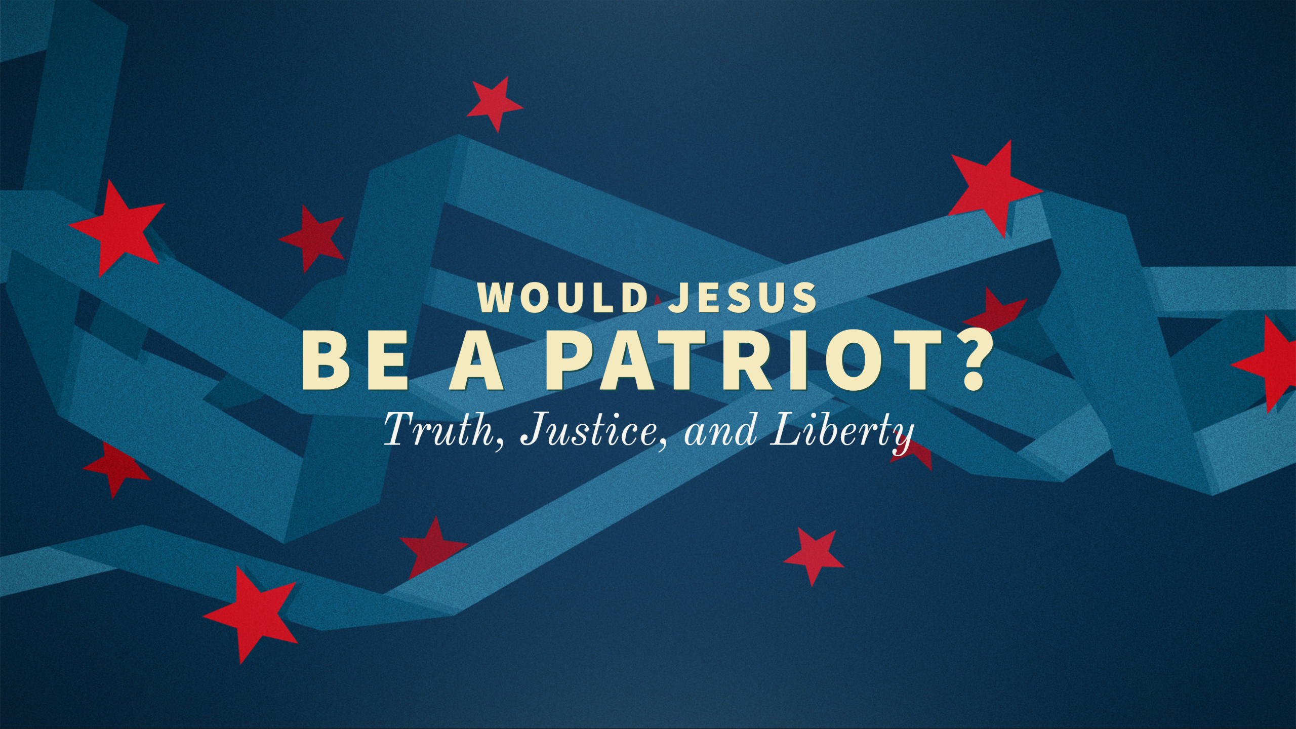 """""""Would Jesus be a Patriot?"""" I"""
