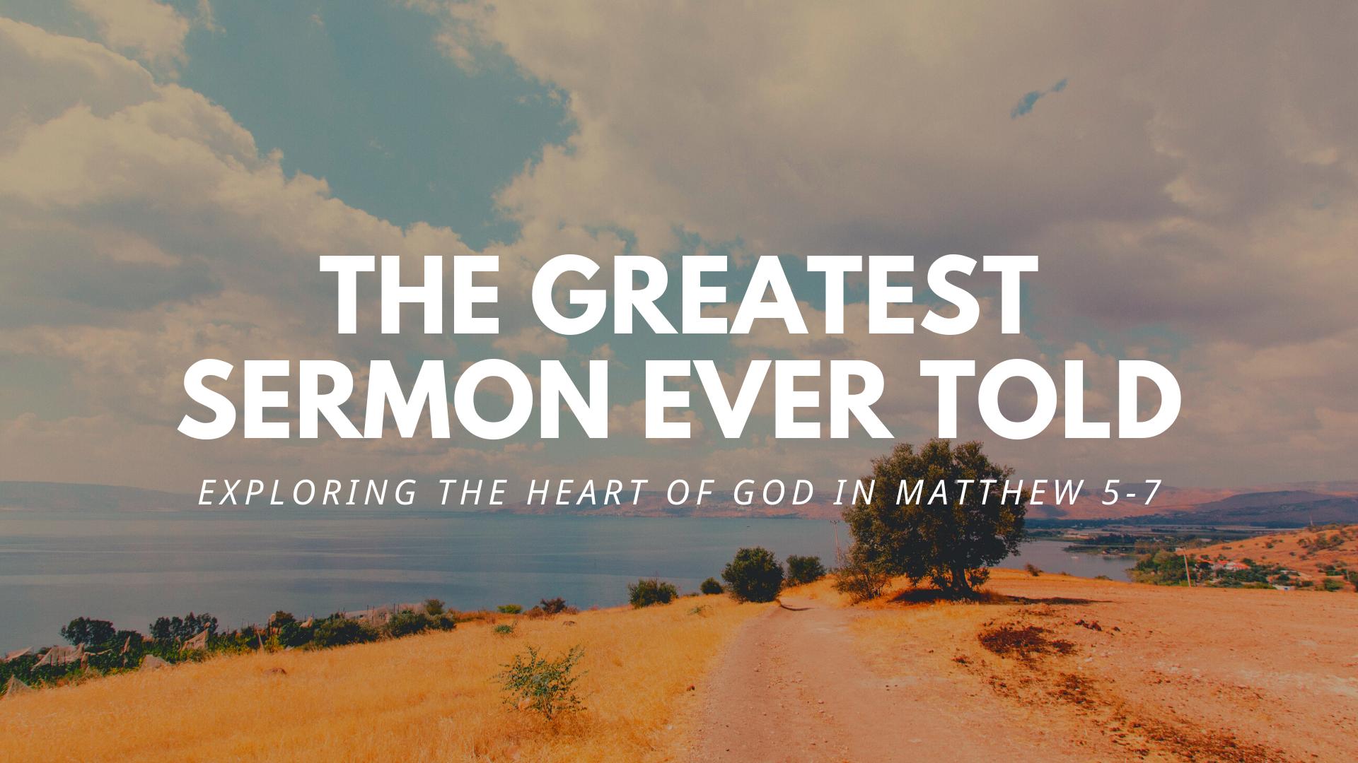 """The Greatest Sermon Ever Told"" II"